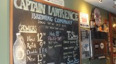 Menu board at Captain Lawrence Brewing Company in Pleasantville NY