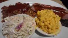 Pulled pork, brisket, coleslaw, mac & cheese at Bobby Q's Bodacious BBQ & Grill in Westport CT