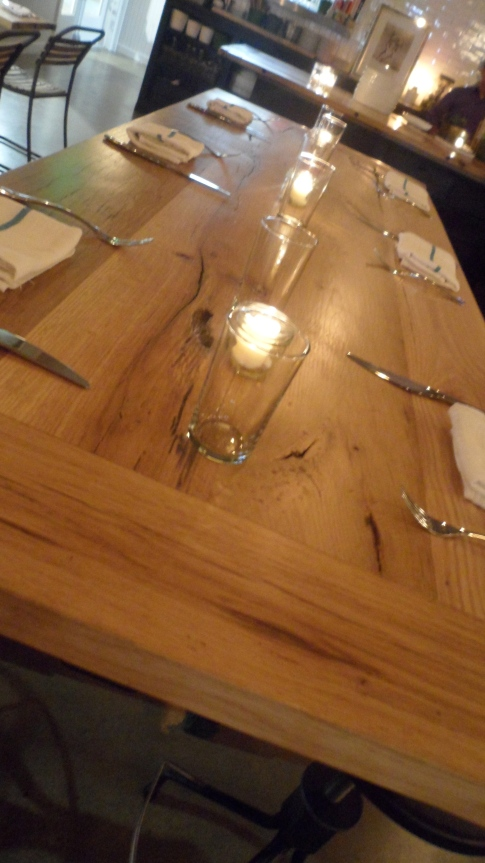 Dining tables at The Whelk in Westport Connecticut