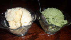 Leave room for dessert: ginger and green tea ice cream
