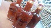 The three bbq sauces at Bar Q B.B.Q.