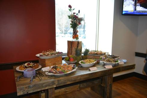 Some of the food available at Cafe 1000 (photo from David's Soundview Catering)