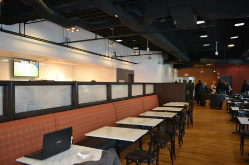 Plenty of places to sit here at Cafe 1000 (photo from David's Soundview Catering)