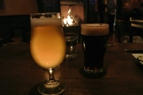 Beer overlooking the fireplace at Cask Republic Stamford