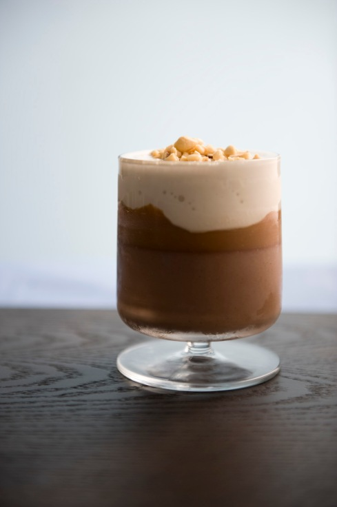 Valhrona Milk Chocolate Panna Cotta, Salty Caramel, Malt Ice Cream Shake image