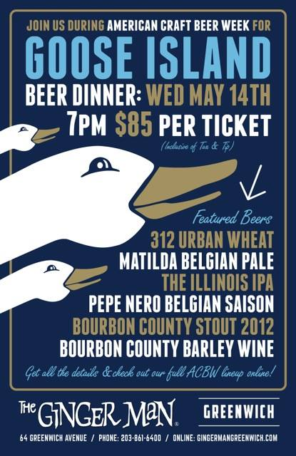 Goose Island Beer Dinner Ginger Man Greenwich