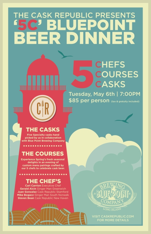 Blue Point 5C Beer Dinner at Cask Republic Stamford