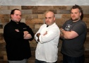 Chefs Pasternack, Storch, and Taibe are preparing to do battle! Photo from Karen Rayda
