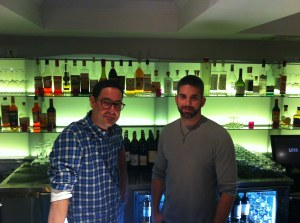 Jeff Marron and Adam Patrick at Luxe Wine Bar
