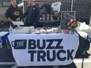 Jeff Borofsky from Skinny Pines with Alex from The Buzz Truck