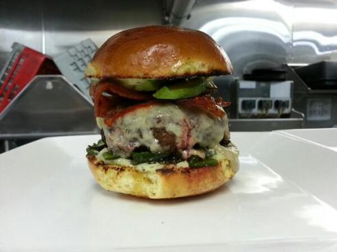 The Border Burger in all its glory, via Chef Vacca's Twitter