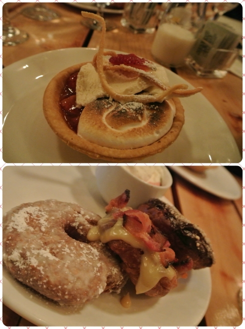 Strawberry-Rhubarb Tart and a Holy Trio of Donuts