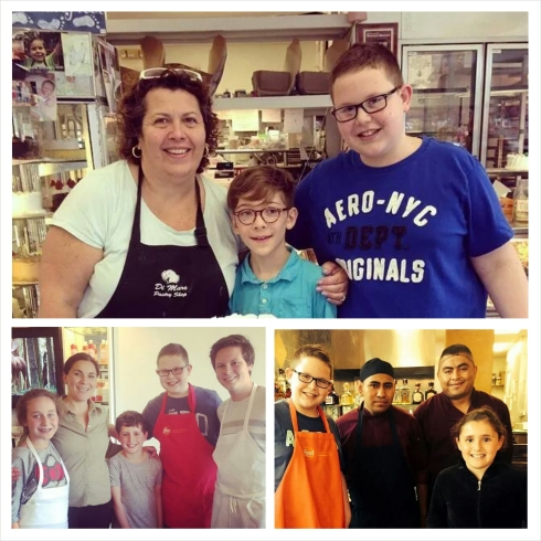Three of the winners cooking and baking in the kitchens of DiMare, Cafe Oo La La, and Casa villa