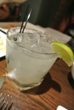 Here's Tierra's version of the margarita...excellent.