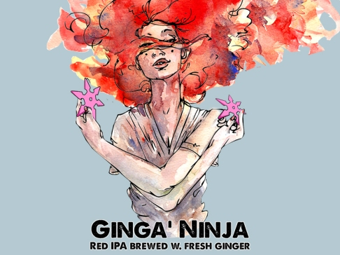 Ginga' Ninja from Black Hog Brewing in Oxford, CT