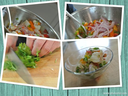 Some of the steps involved in making a great ceviche