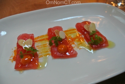 Tuna Crudo at Morello Bistro in Greenwich CT