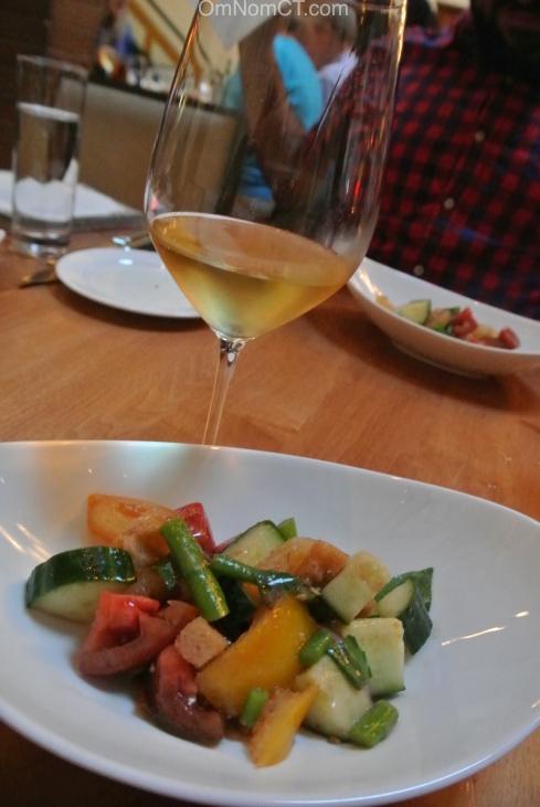 Panzanella Salad at Morello Bistro in Greenwich CT