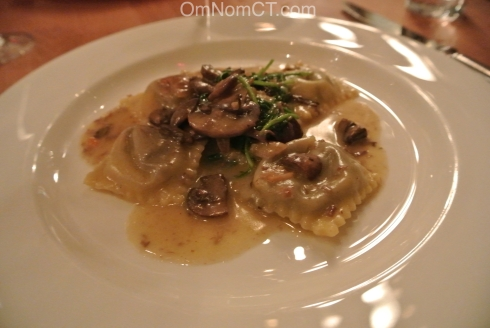 Braised Beef Ravioli at Morello Bistro in Greenwich CT