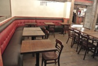 The left side of the restaurant at Little Pub Greenwich
