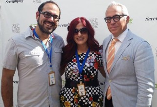 Dan and Kristien with Chef Geoffrey Zakarian at Greenwich Wine Food Festival 2014