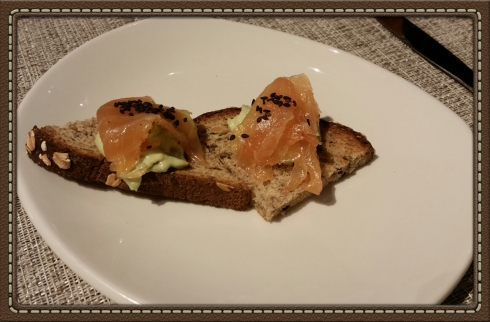 Salmon Tartine at The Granola Bar in Westport, CT