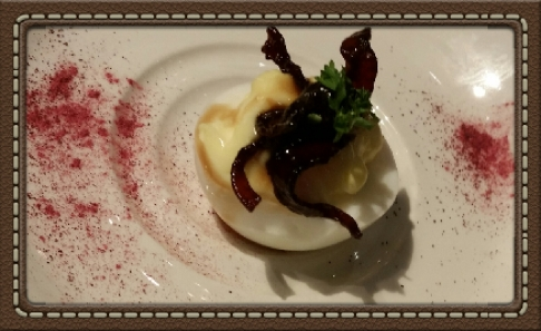 Turkey Bacon Deviled Egg at The Granola Bar in Westport, CT