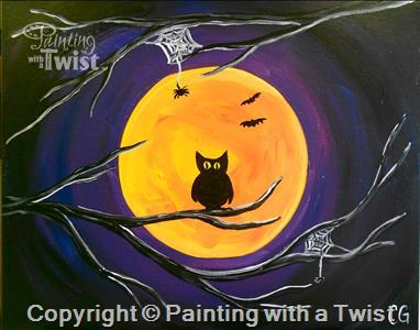 painting with a twist westport halloween painting omnomct