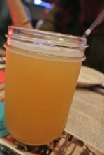 Fat-ten-er #10 Saison from New England Brewing Comfort Food dinner at Coalhouse Pizza