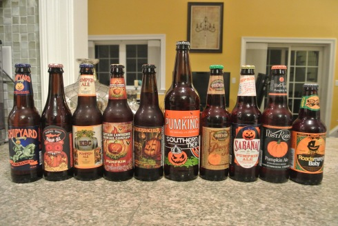 OmNomCT Pumpkin Beer Tastings from the Northeast