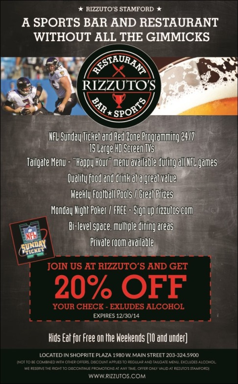Rizzuto's coupon 20% off Stamford