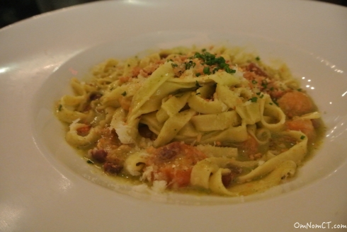 Housemade fettuccine at Firebox in Hartford, CT