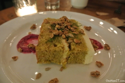 Spiced Beet Cake at Firebox in Hartford, CT