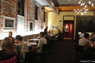 One of the dining rooms at Firebox in Hartford, CT