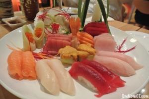 Assorted Sushi and Sashimi Platter at Matsu Sushi Westport OmNomCT