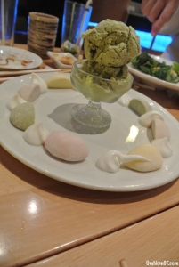 Green Tea Ice Cream and Mochi Matsu Sushi Westport OmNomCT