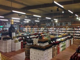 Stew Leonard's Wines & Spirits Wine section (some of it), photo from Stew Leonard's