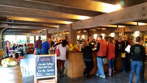 The Bustling Tasting Room at Jones Winery in Shelton