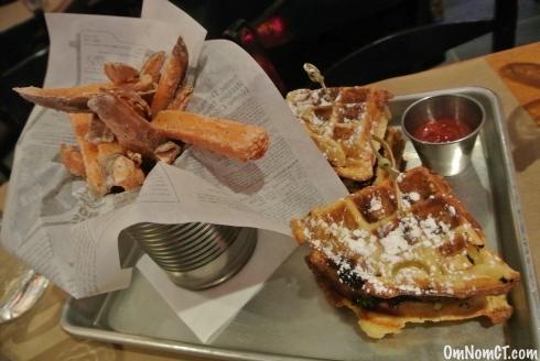 Chicken + Waffles Georgetown Saloon OmNomCT