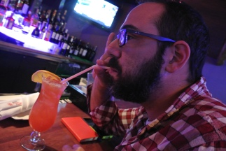 Dan sipping some cocktails at Hana Tokyo in Fairfield, CT