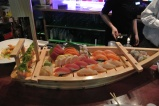 Sushi boat at Hana Tokyo in Fairfield, CT