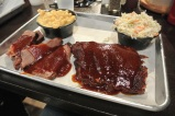Ribs, brisket, mac & cheese, and coleslaw at Bear's Smokehouse in Hartford, CT