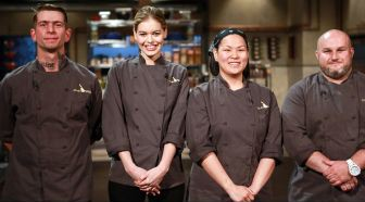 The Competitors for Chopped, Late Night Food Brawl. Local chef Adam Greenberg is pictured to the right. Photo from foodnetwork.com