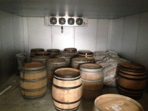 wine barrels for fermenting Kent Falls Brewery from Facebook Page
