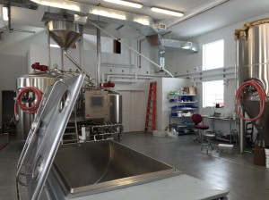 Brewing room and converted milk chiller Kent Falls Brewery from Facebook Page