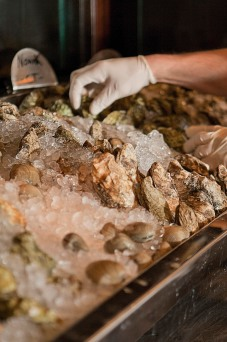 Fresh oysters from Saybrook Point Inn