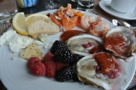 Plate of seafood and cheese at Washington Prime in South Norwalk, CT