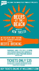 BEERS AT THE BEACH POSTER