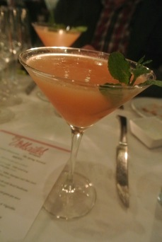 Cantaloupe cocktail at Bistro Versailles in Greenwich, CT
