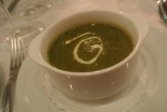 Sorrel Soup at Bistro Versailles in Greenwich, CT